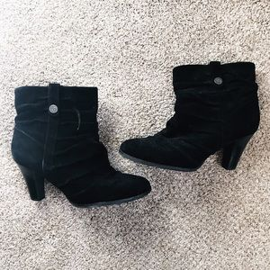 BCBG Ankle Suede Booties